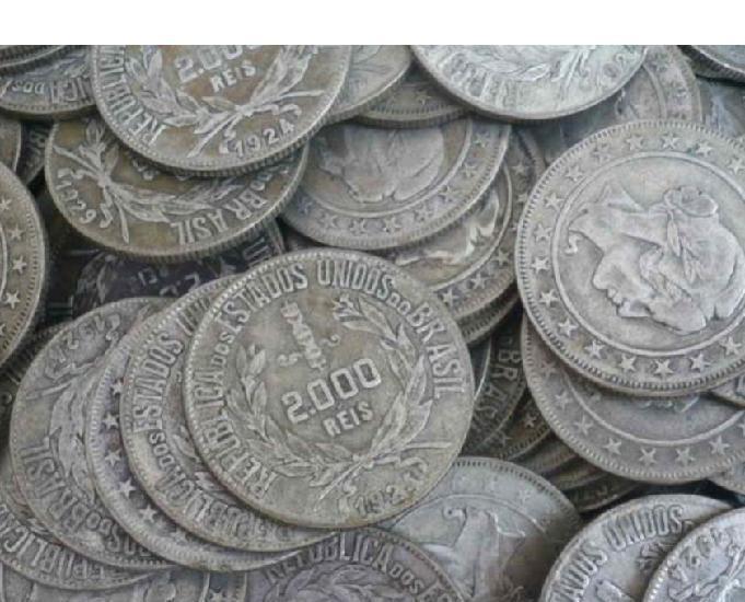 Compro moedas pratinhas ano 1924 até 1938 pago r$300 o
