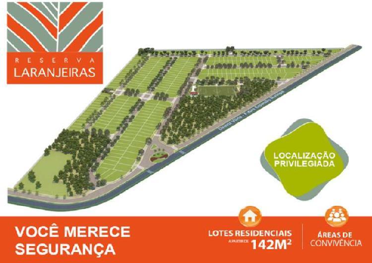 Loteamento reserva das laranjeiras 142 a 250 metros