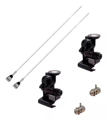 2 antena aquario vhf 300c radio amador + suporte + conector