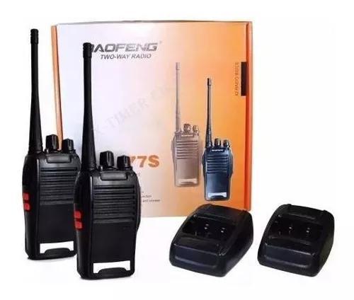 2 radios comunicação ht uhf vhf 16 canais antena 12km 777s