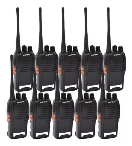 5 pares radio comunicador baofeng ht walktalk talkabout 777s