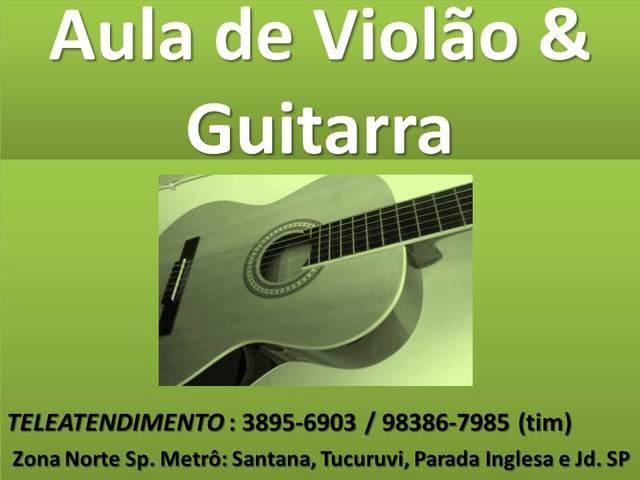 Aula curso guitarra rock solo e base zona norte sp santana