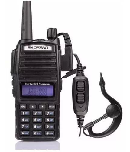 Adio ht comunicador dual band vhf uhf baofeng uv82 + fone