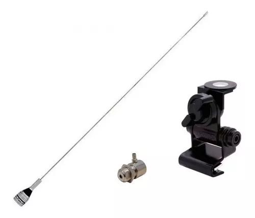 Antena aquario vhf 300c radio amador + suporte + conector
