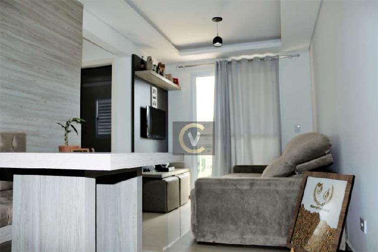 Apartamento em valinhos, 02 quartos, edifício vitória