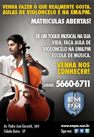 Aulas de violoncelo - cidade dutra - interlagos - santo