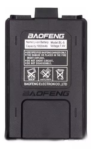 Bateria ht baofeng original 1800 mah 7,4 v uv5r uv5ra bl-5