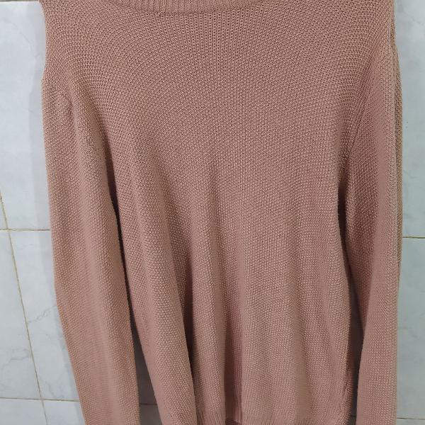 Blusa lã youcom manga longa