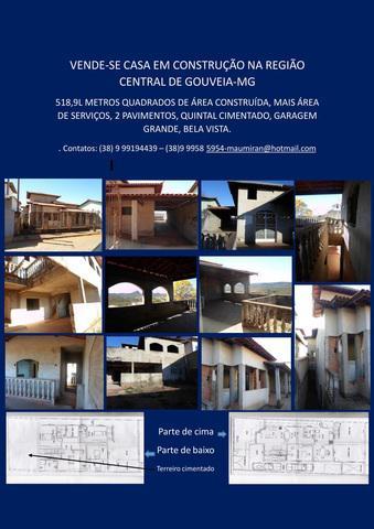 CASA DOIS PAVIMENTOS EM REFORMA/CONSTRUÇÃO