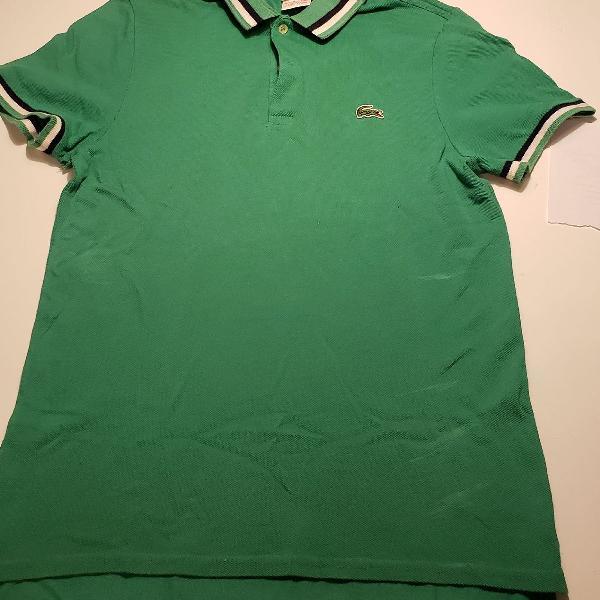 Camisa polo lacoste verde jeffrey edition