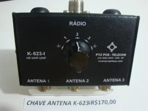 Chave antena k-623-i hf vhf uhf radio amador px py py2pcb
