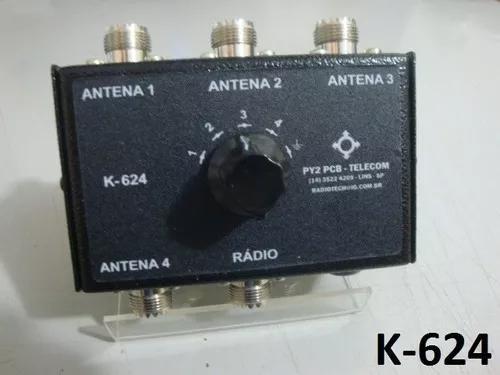Chave antena k-624 hf vhf uhf radio amador px py py2pcb