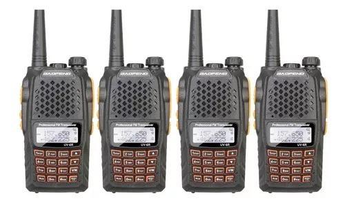 Combo 4 rádios comunicadores qualidade profissional
