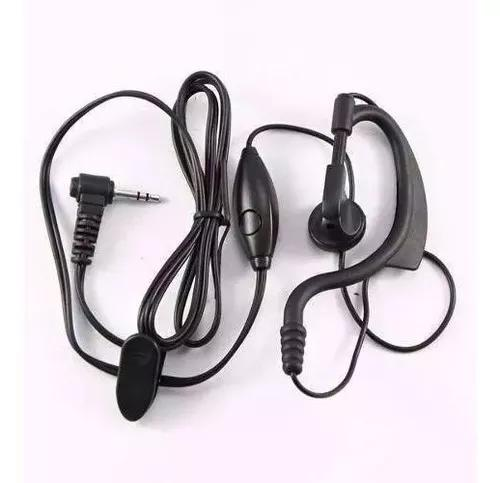 Fone motorola c/ microfone ptt p/ rádios talkabout cobra