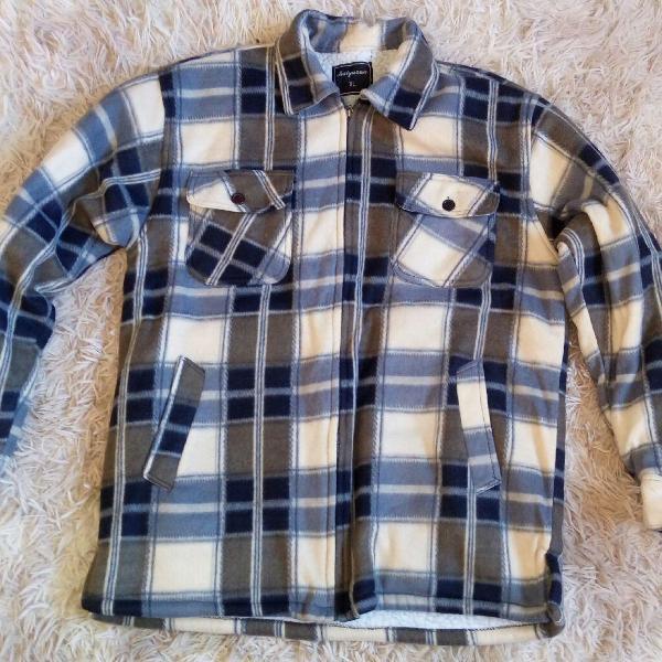 Jaqueta xadrez em lã importada
