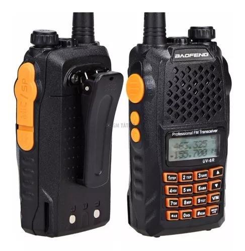 Kit 10 radio dual band(uhf+vhf) baofeng uv-6r + fone