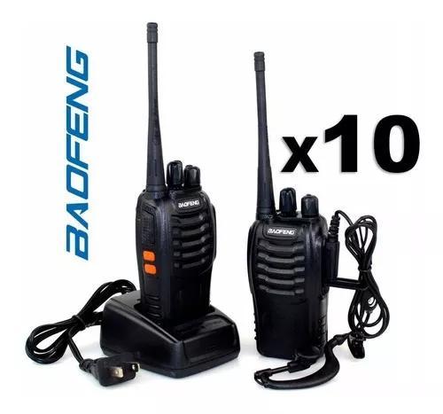 Kit 10un radios baofeng 777s vhf uhf walk talk comunicador