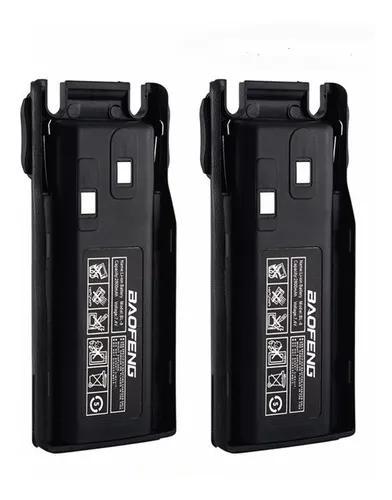 Kit 2 bateria p/radio ht baofeng original 4200 mah uv82 bl-8