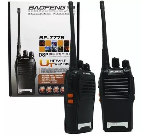 Kit 2 radio comunicador 777s profissional ht uhf 16 canaisnf