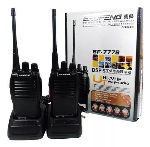Kit 2 radios comunicador walk talk baofeng bf-777s ok tok