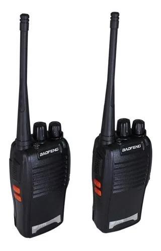 Kit 2 radios comunicação ht uhf vhf 16 canais completos