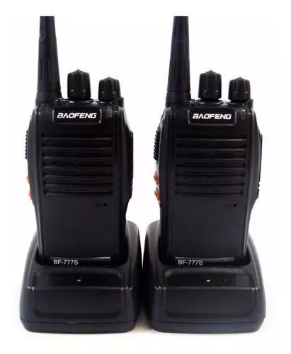 Kit 2 rádio comunicador ht baofeng bf-777s walk talk uhf