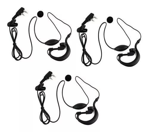 Kit 3 fone radio comunicador walkie talkie 888 uv5 777s