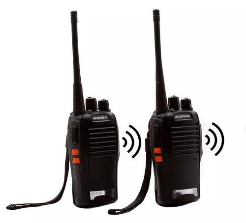 Kit 4 radio comunicador walk talk baofeng bf-777s s