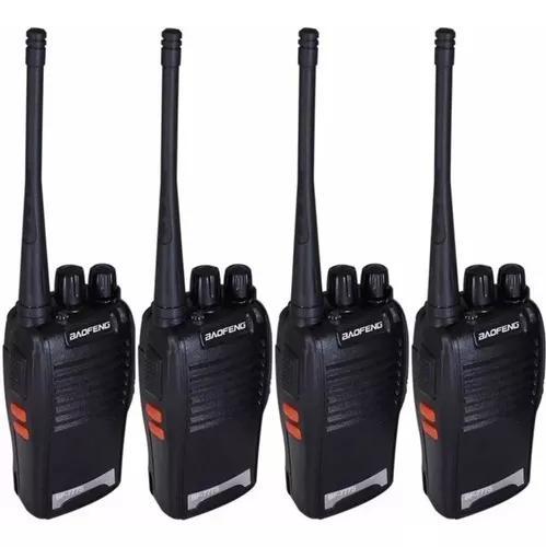 Kit 4 radio ht uhf 16 canais comunicador profissional 777s