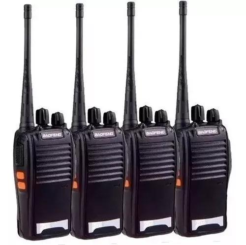 Kit 4 radio walk talk comunicador 16 ch alcance 12km bf 777s