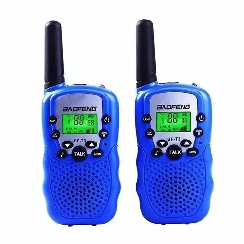 Kit 4 rádio walk talk comunicado baofeng bf t3 longo
