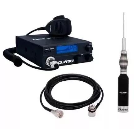 Kit amador comunicador rádio px 40 canais + antena e cabo
