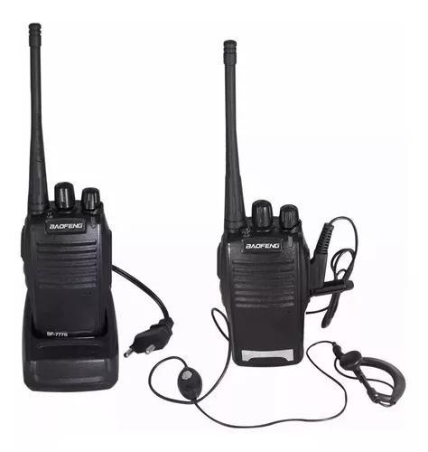 Kit dois rádios comunicação c/16 canais completos bf-777s