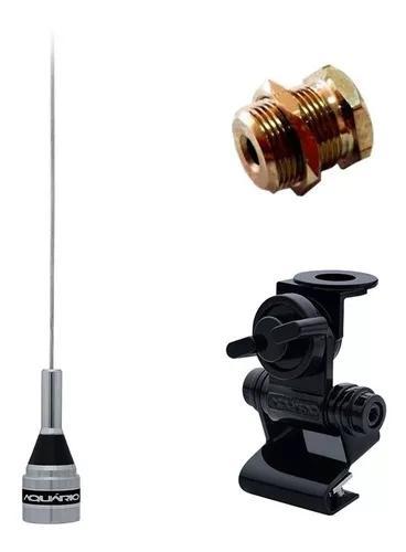 Kit enfeite antena vhf + suporte porta mala + parafuso fixar