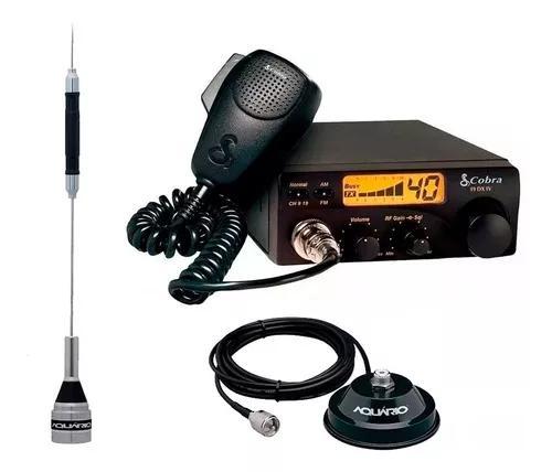 Kit px cobra 40 canais rádio amador c/ antena aquário +