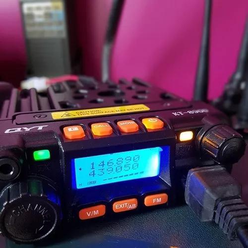 Kit rádio amador dual band vhf uhf kt-8900 25watts c/