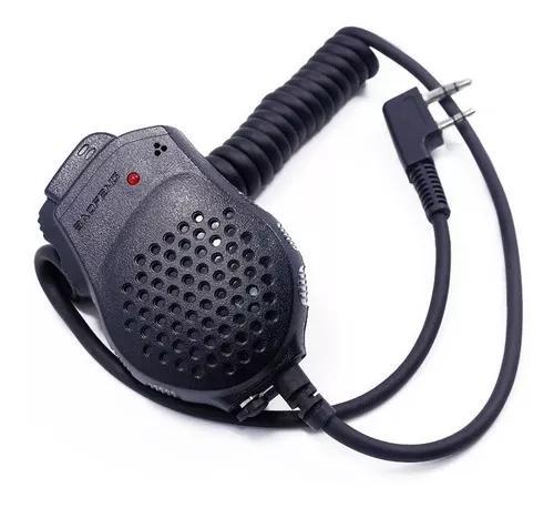 Microfone mini ptt duplo p/ radio baofeng uv 82