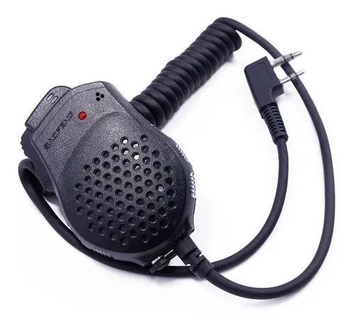 Microfone mini ptt para ht radio baofeng original ptt uv82
