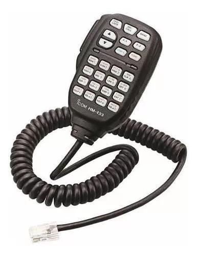 Microfone ptt radio icom hm133v hm133 ic-2200h v8000 ic-2100
