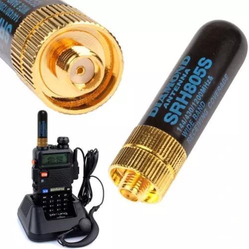 Mini antena diamond para radio ht baofeng uv5r uv6r e outros
