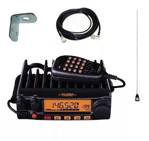 Pacote py vhf yaesu ft-2980r + kit antena steelbras móvel