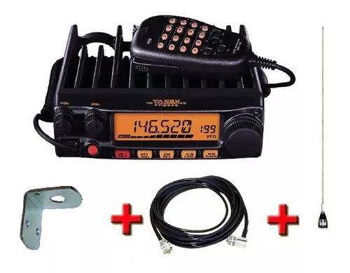 Pacote yaesu ft-2980r + kit antena veicular steelbras