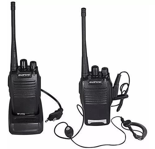 Par radio 777s baofeng 16 canais comunicador profissional