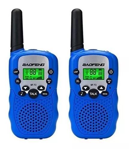 Par rádio comunicador walktalk infantil baofeng bf-t3 5km