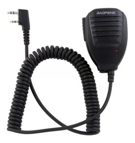 Ptt baofeng original c/ falante e clip microfone lapela