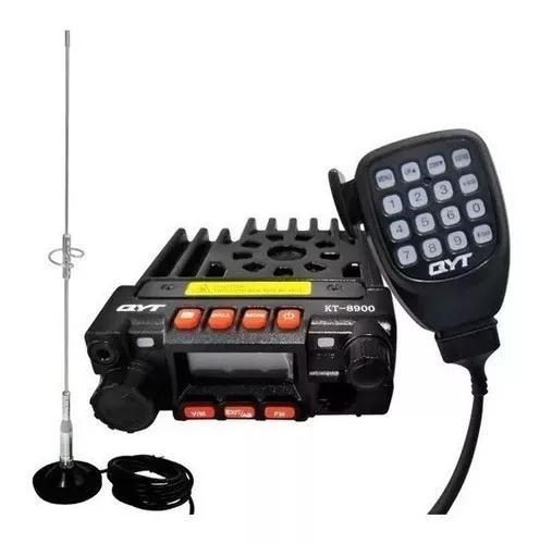 Radio amador py vhf uhf 8900 pro + ptt + antena + base