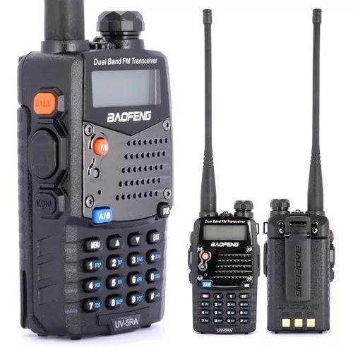 Radio comunicador dual band baofeng vhf uhf + fone fm uv5ra