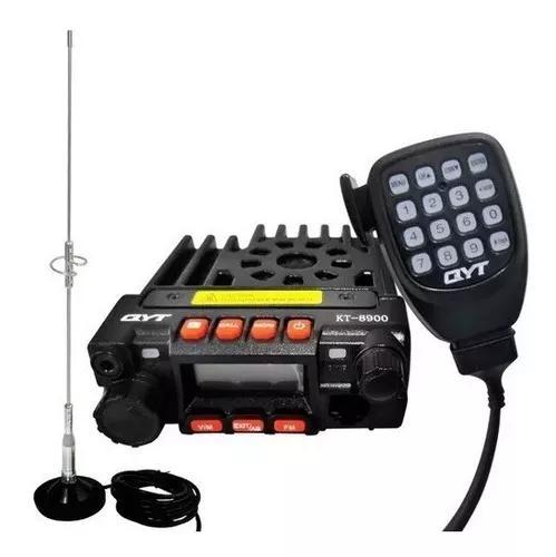 Radio comunicador py vhf uhf 8900 pro + ptt + antena + base