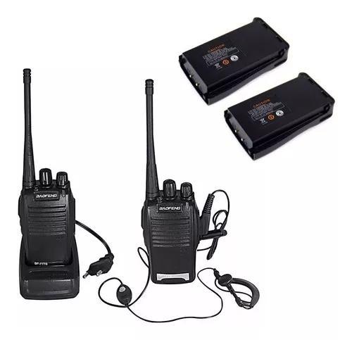 Radio comunicador walk talk talkabout baofeng 777 +2 bateria