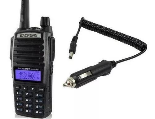 Radio ht dual band vhf uhf baofeng uv-82 5w + cabo veicular